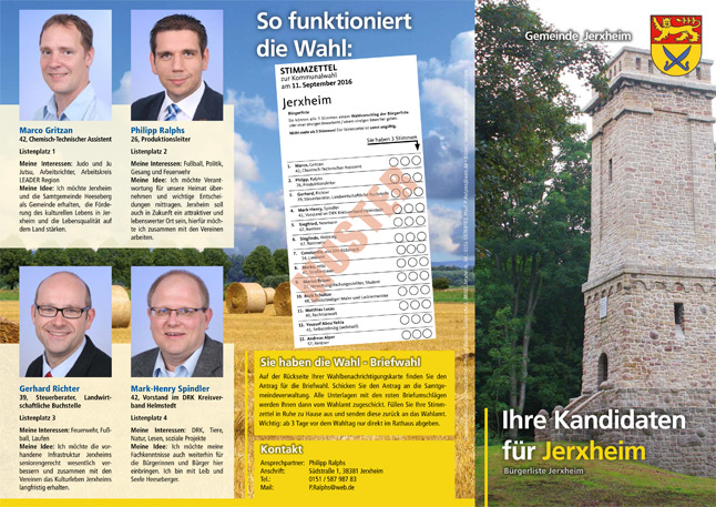 Kommunalwahlen in Jerxheim am 11. September 2016